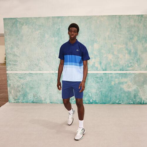 بولو رجالي من مجموعة Lacoste Sport X Novak Djokovic المرن ذو قصة عادية