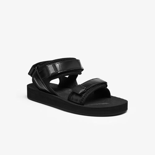 Women's Suruga Leather And Textile Sandals