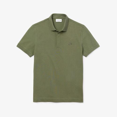 Men's Lacoste Paris Polo Shirt Regular Fit Stretch Cotton Piqué