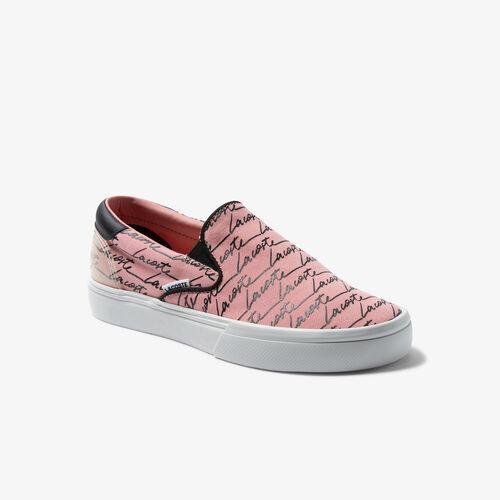 Women's Jump Serve Slip Canvas Print Sneakers