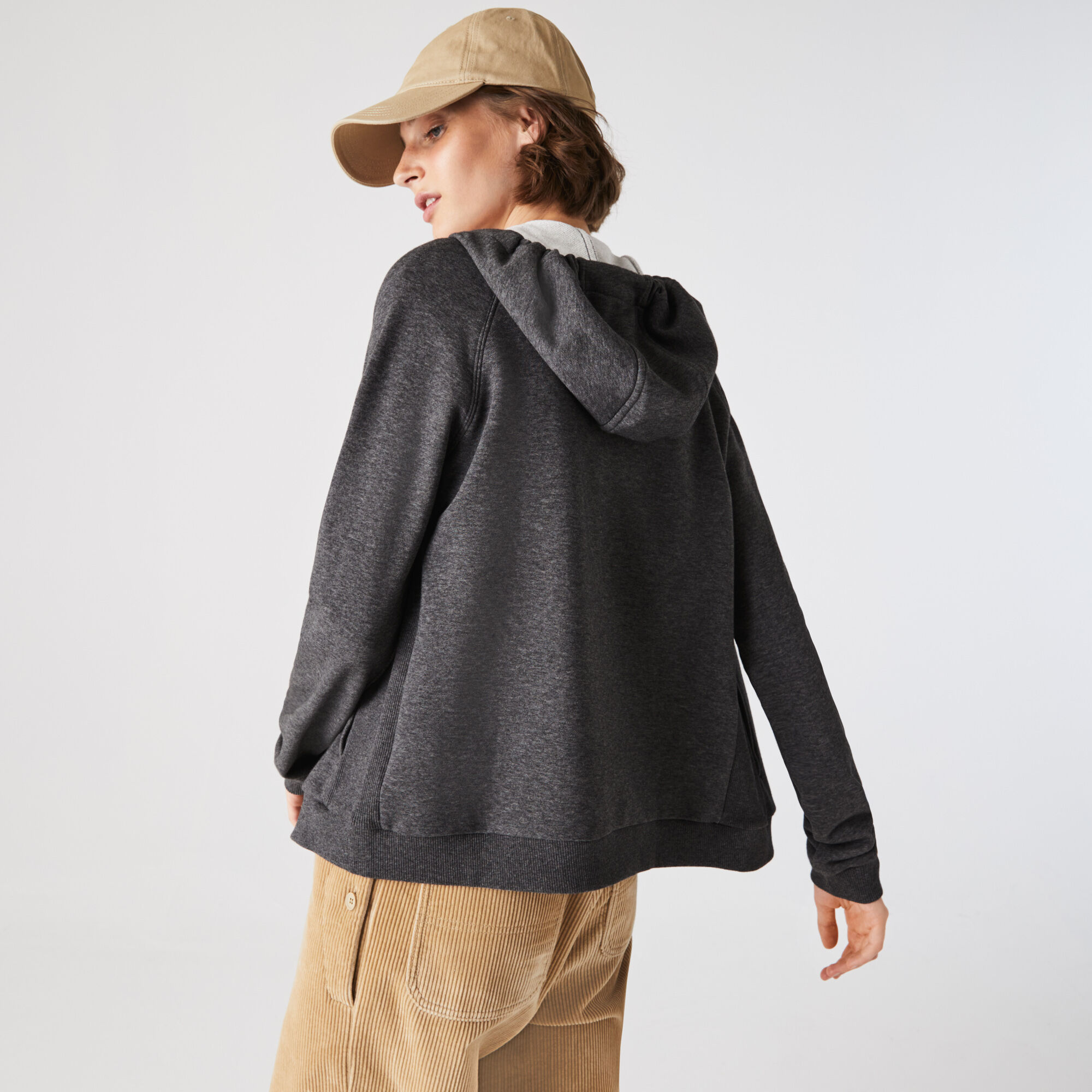 Women's Lacoste SPORT Hooded Fleece Zip Tennis Sweatshirt