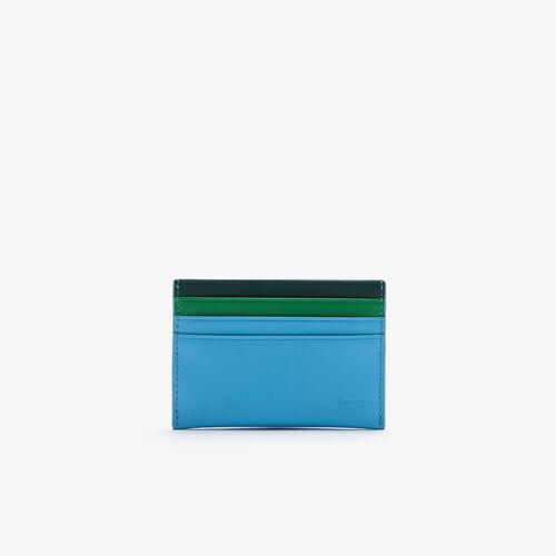 حافظة بطاقات جلدية ناعمة ثلاثية الألوان للرجال