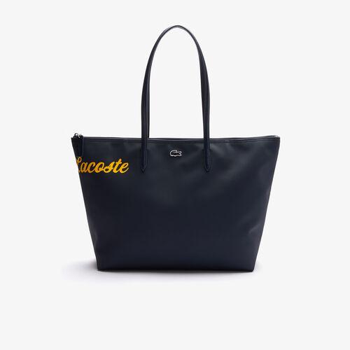 حقيبة تسوق نسائية كبيرة L.12.12 من القماش الكتاني بيكيه