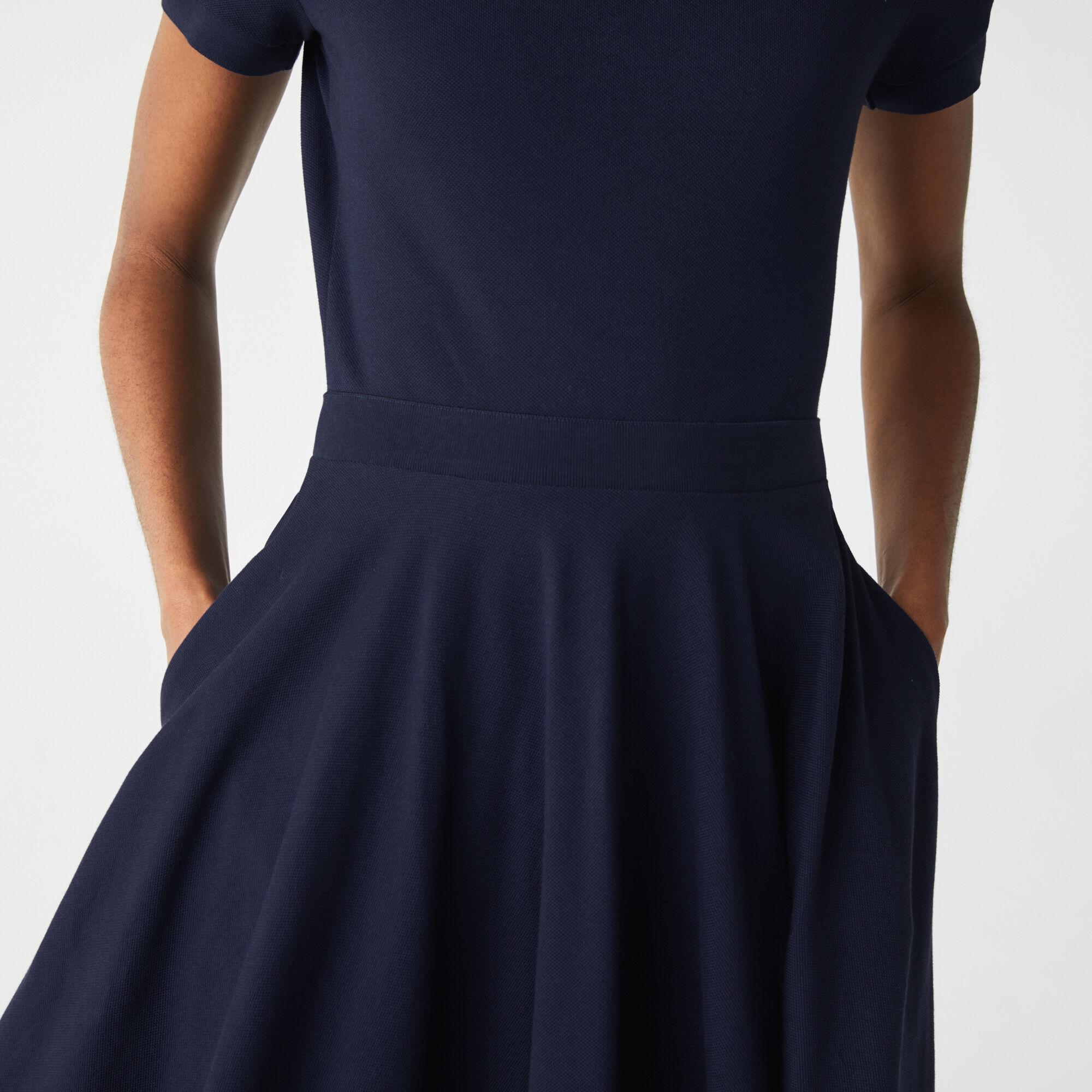 Women's Fitted Cotton Piqué Polo Dress