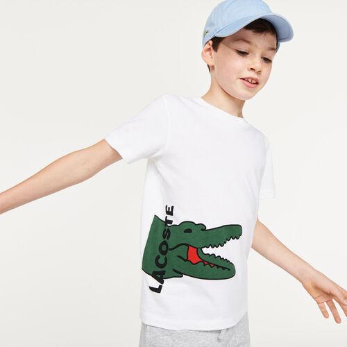 تيشيرت ولادي قطني بطبعة التمساح