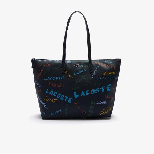 حقيبة تسوق نسائية كبيرة الحجم بطبعة L.12.12 من قماش بيكيه