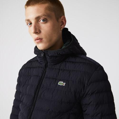 Men's Lightweight Foldable Hooded Water-resistant Puffer Coat