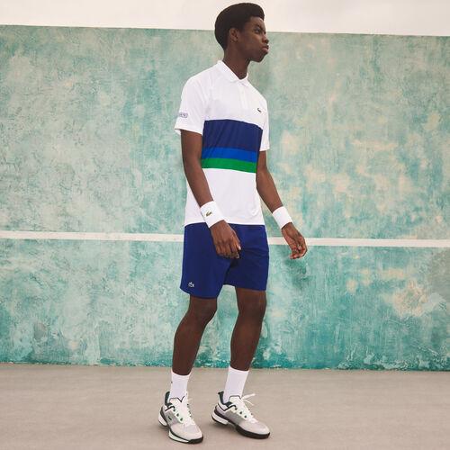 شورت رجالي خفيف الوزن قابل للتمدد من مجموعة Lacoste Sport و Novak Djokovic