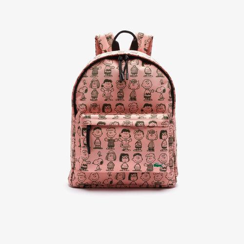 حقيبة الظهر الرجالية المصنوعة من القماش الكتاني من Lacoste X Peanuts