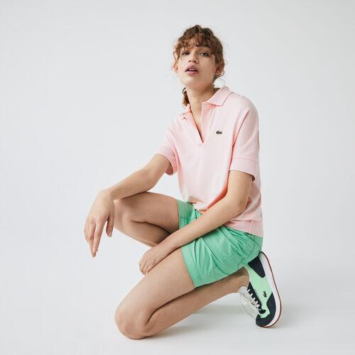قميص بولو من البيكيه الانسيابي للنساء