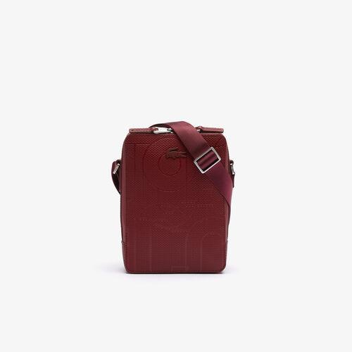 حقيبة كروس للرجال من Chantaco Graphic Piqué جلد بسحّاب عمودي