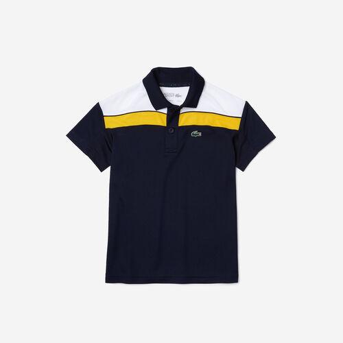 Boys' Lacoste Sport Breathable Colorblock Piqué Regular Fit Polo