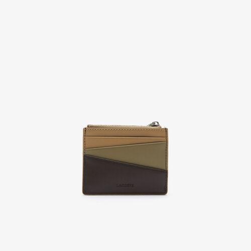 حامل بطاقة ائتمان للرجال من الجلد الناعم بسحاب من مجموعة Fitzgerald