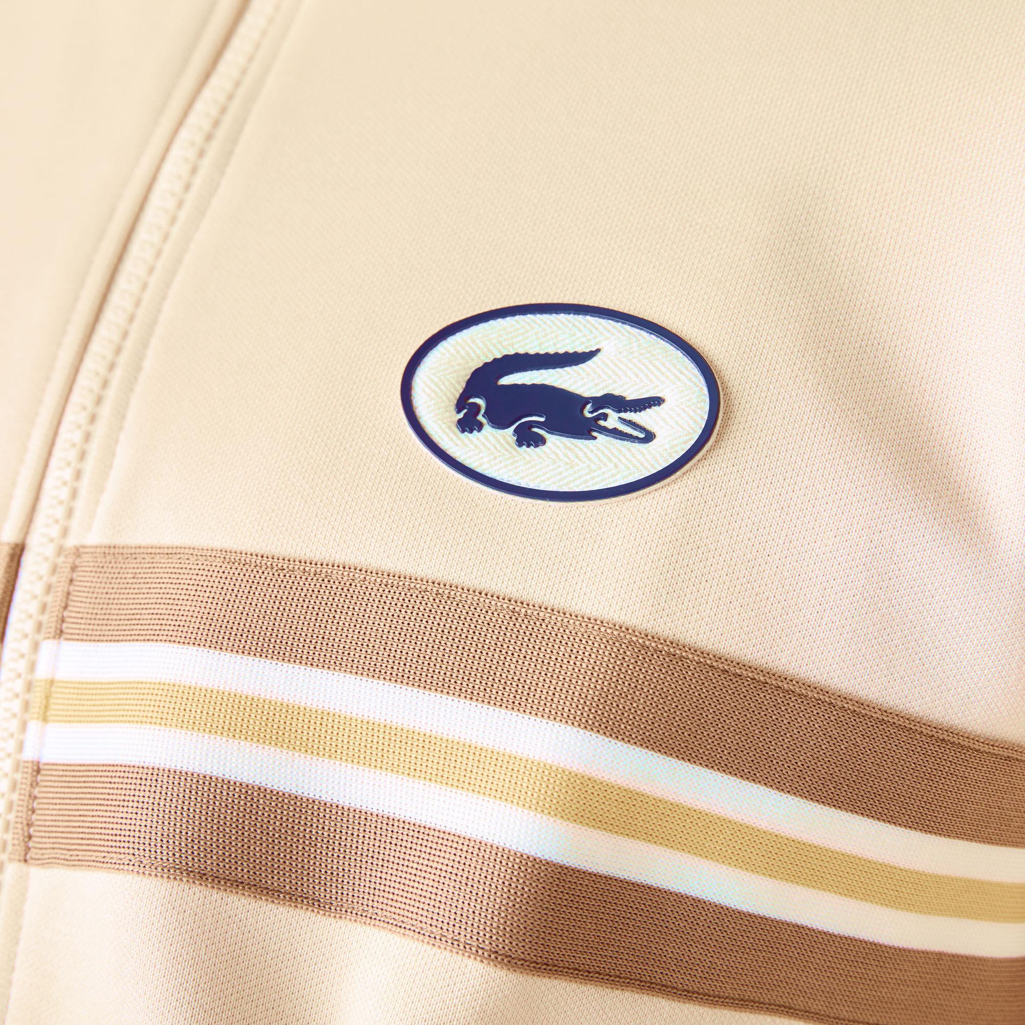 Men's Heritage Striped Band And Badge Zip Sweatshirt