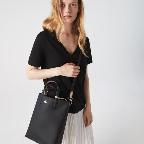 حقيبة توت يمكن استخدامها على الوجهين من القماش المغلف بالبلاستيك من مجموعة Anna للنساء