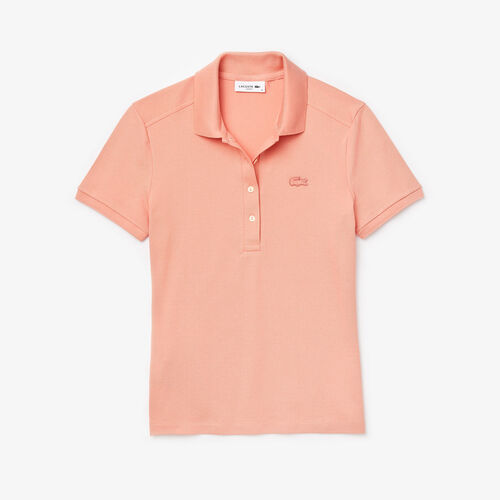 قميص بولو من بيكيه القطن المرن للنساء