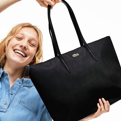 حقيبة توت بسحاب وشعار العلامة التجارية مجموعة L.12.12 للنساء