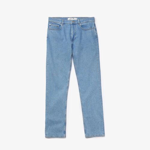 بنطال جينز بقصة ضيقة من الدنيم المرن مع 5 جيوب للرجال