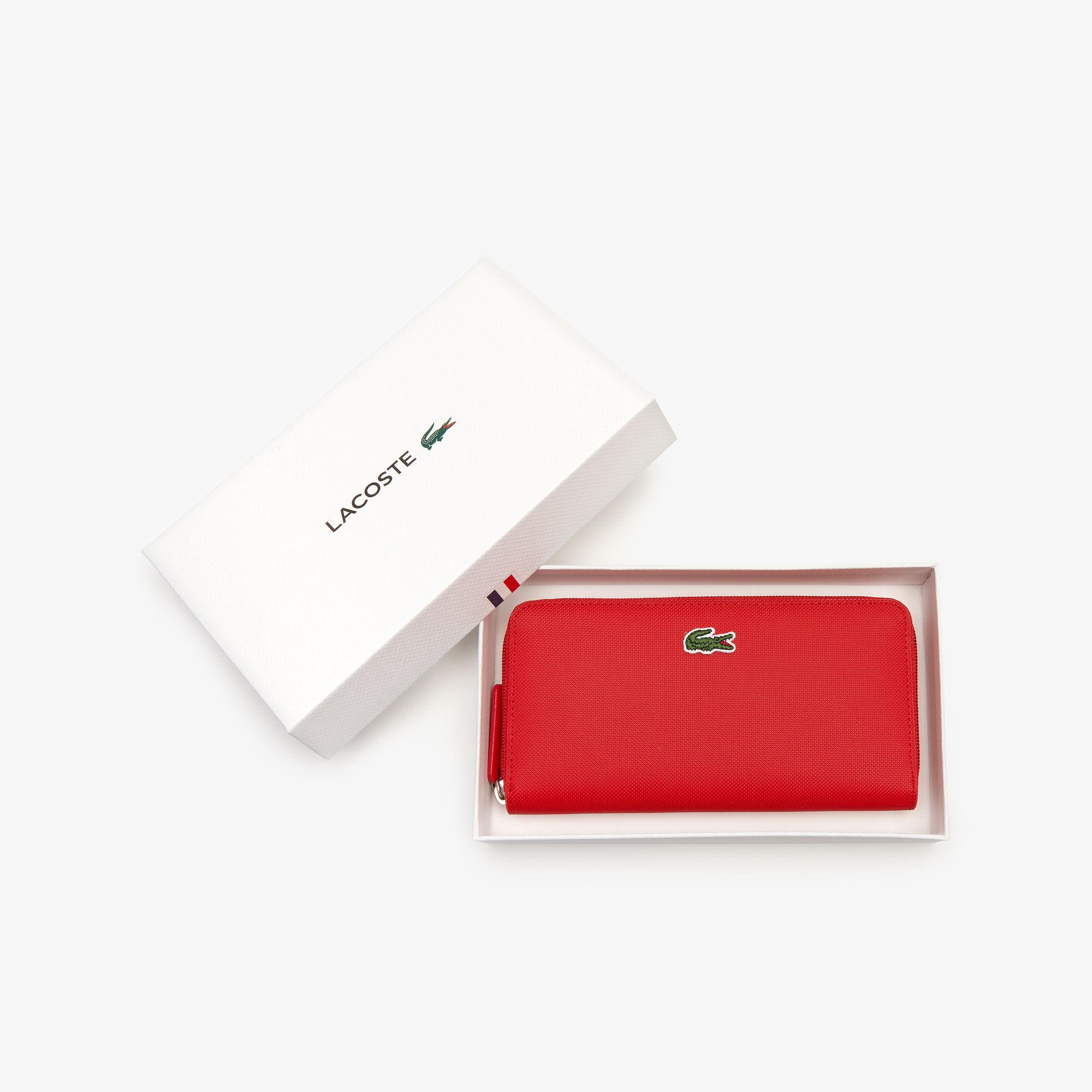 Women's L.12.12 Concept Petit Piqué 12 Card Zip Wallet
