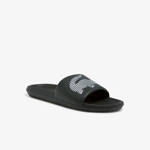 Men's Croco Synthetic Metallic Slides