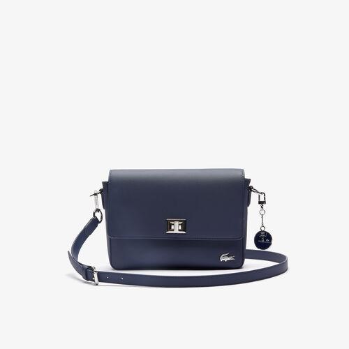 حقيبة كتف بمشبك محيكة من كنفا بيكيه بتصميم كلاسيكي عملي للسيدات من مجموعة Daily Classic