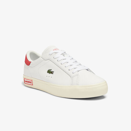 Women's Powercourt Leather Popped Heal Trainers