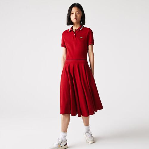 فستان بولو نسائي مصنوع في فرنسا من قطن بيتي بيكيه